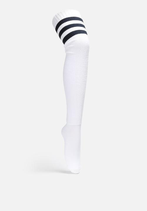 b33d512a6097d Stripe Thigh High Sock - White/Navy American Apparel Stockings ...
