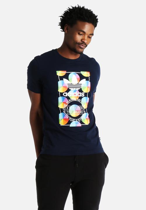 afcd2b39bb7 Stan Smith Multi Colour Tee - Black adidas Originals T-Shirts ...