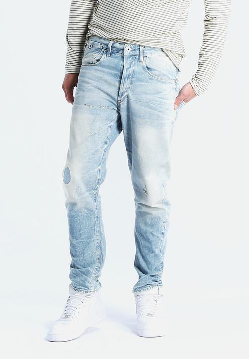 19caec65385 Type C 3D Tapered Medy Denim - Light Aged G-Star RAW Jeans ...