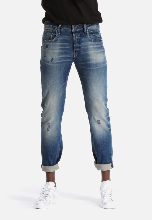 c06ed2f6f93 Revend Straight - Wils Stretch Denim - Dark Aged G-Star RAW Jeans ...