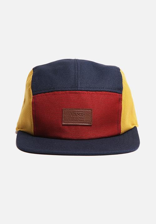 ee8bdb4c0f Davis 5 Panel Camper Hat- Russet Colour Block Vans Headwear ...