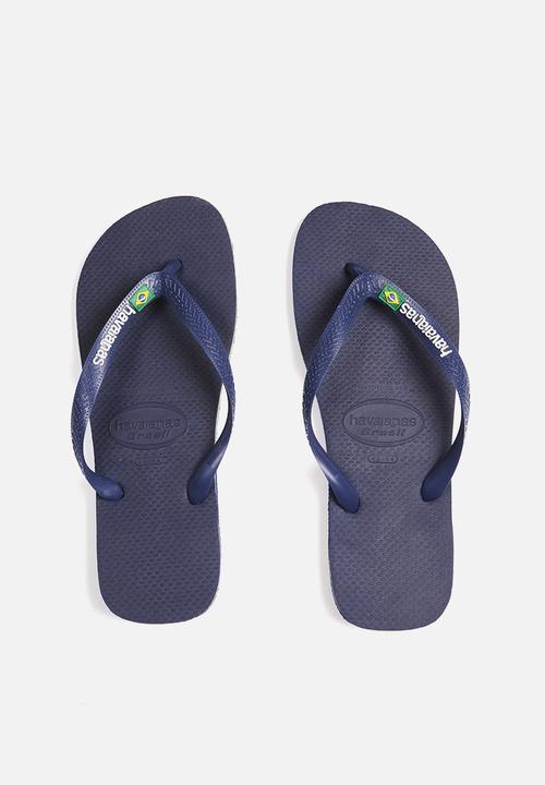 454ff8a03 Brazil Logo - navy Havaianas Sandals   Flip Flops