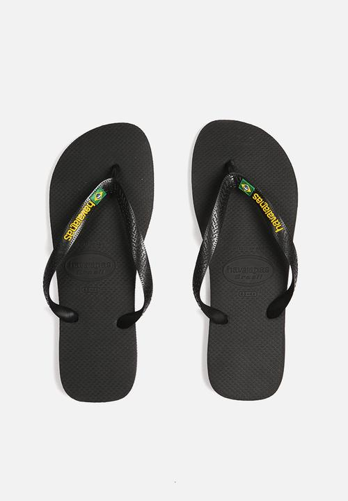 33f31a98dccff0 Brazil Logo - black Havaianas Sandals   Flip Flops