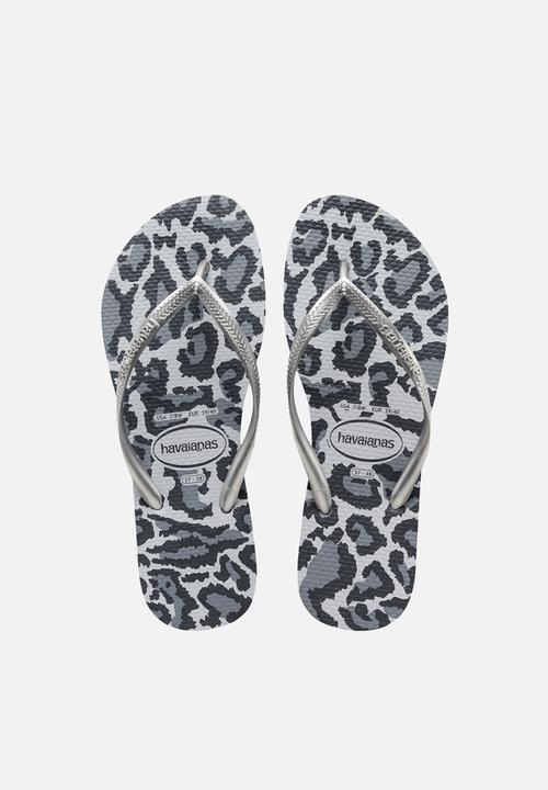 5f359a2a9 Slim animals - ice grey Havaianas Sandals   Flip Flops