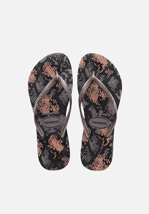 bb37541d08ad0e Slim animals - fog Havaianas Sandals   Flip Flops