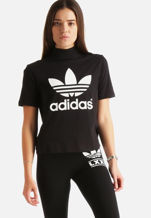 Berlin High Neck Tee - Black adidas Originals T-Shirts f2beb855d