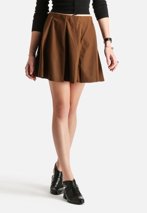 2ce5a6c1b7 Neoline PU Skirt - Cognac ONLY Skirts   Superbalist.com