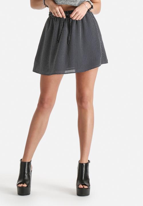 ff7d9c20a3 Flo Flippy Skirt - Navy with White Polka Dot dailyfriday Skirts ...