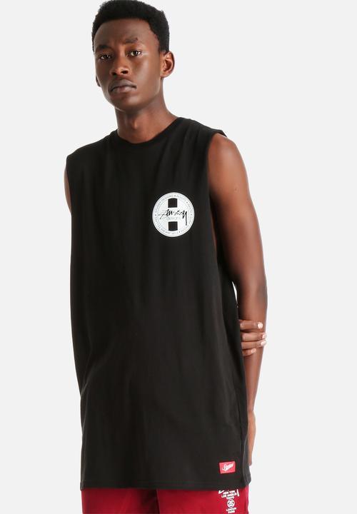 bc15ffd1850199 Designs Tall Muscle Tank - Black Stussy T-Shirts   Vests ...