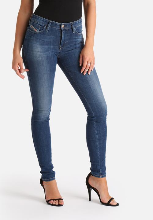 1592dabf Skinzee Super Slim Skinny Regular Waist Jean - Blue Diesel Jeans ...