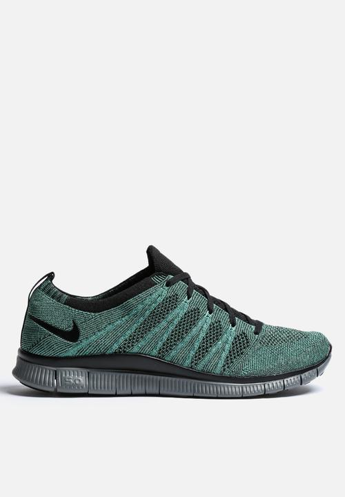 6c8ed89ba2f9 Nike Free Flyknit NSW - 599459-303 - Rough Green   Black   Jade ...