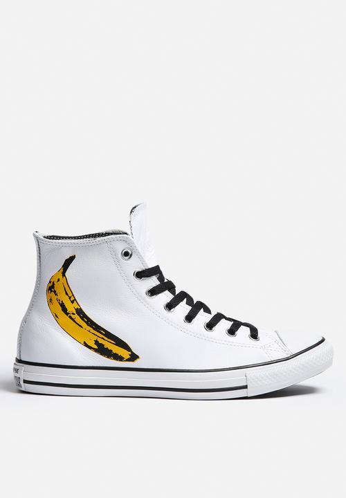 9b6f33e2e5a2 Chuck Taylor All Star Hi - Warhol Banana - White Converse Sneakers ...