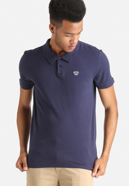 079b33abeb78 Golfer Polo - Navy GUESS T-Shirts & Vests | Superbalist.com