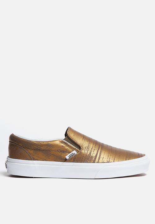 f4d884200f Vans Classic Slip-On - Brushed Metallic Gold Vans Sneakers ...