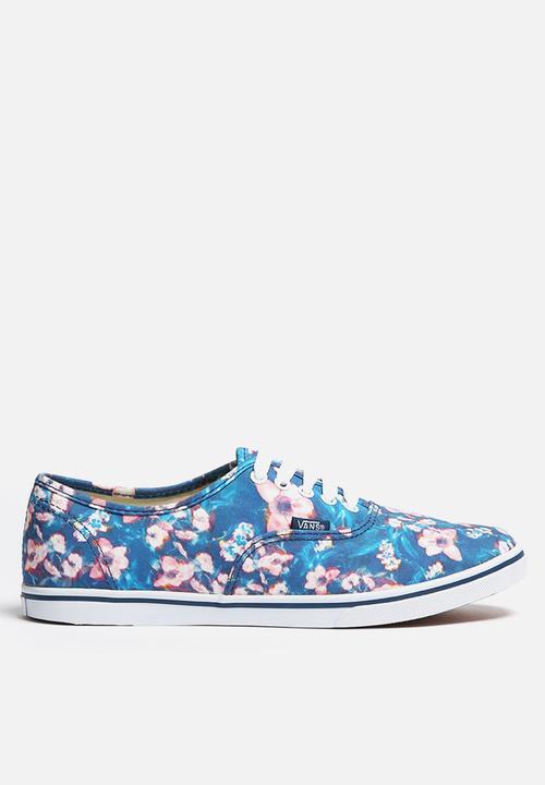 6bc4e6f10b Vans Authentic Lo Pro - Blurred Floral - Poseidon Vans Sneakers ...