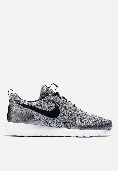 performance sportswear super popular excellent quality Nike Roshe One NM Flyknit SE - 816531-002 - Wolf Grey / Black ...