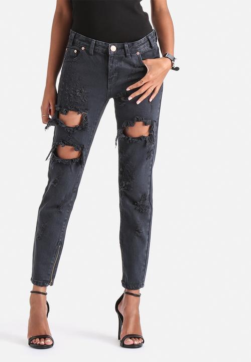 77cf2121a30 Destroyed Boyfriend Jeans - Navy Wash Glamorous Jeans   Superbalist.com