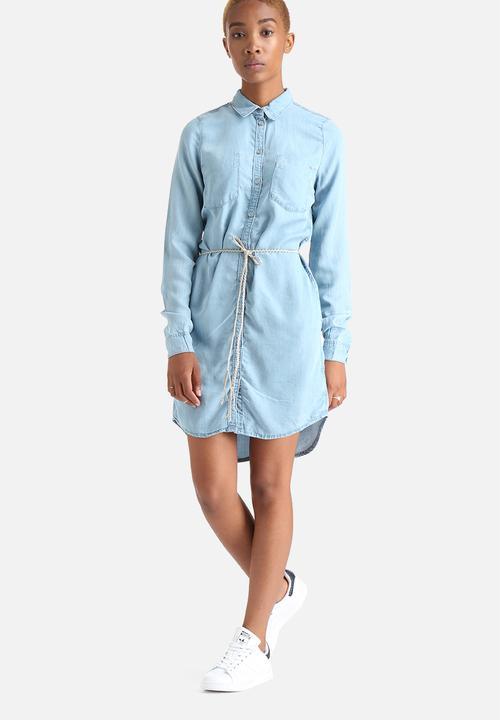 80e33de333 Henna Shirt Dress - Light Blue Denim ONLY Casual