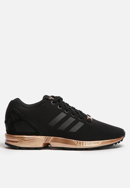4e7fe8ba8bd73 ZX Flux - S78977 - Core Black   Copper Metallic adidas Originals ...