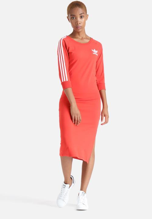 3 Stripes Dress - Red adidas Originals Casual  92a0fc0a527