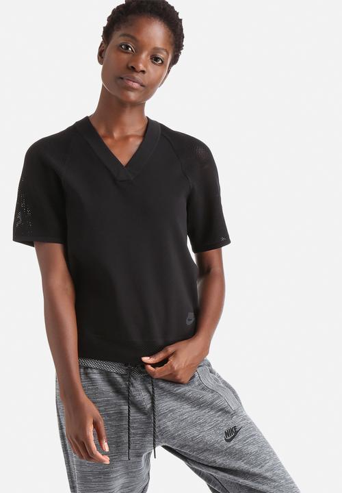 5b73e5a22 NIKE TECH KNIT TOP-Black Black Nike T-Shirts   Superbalist.com
