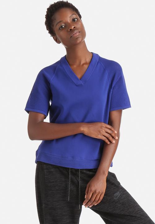 f3b6812a3 NIKE TECH KNIT TOP - DEEP ROYAL BLUE/BLACK Nike T-Shirts ...