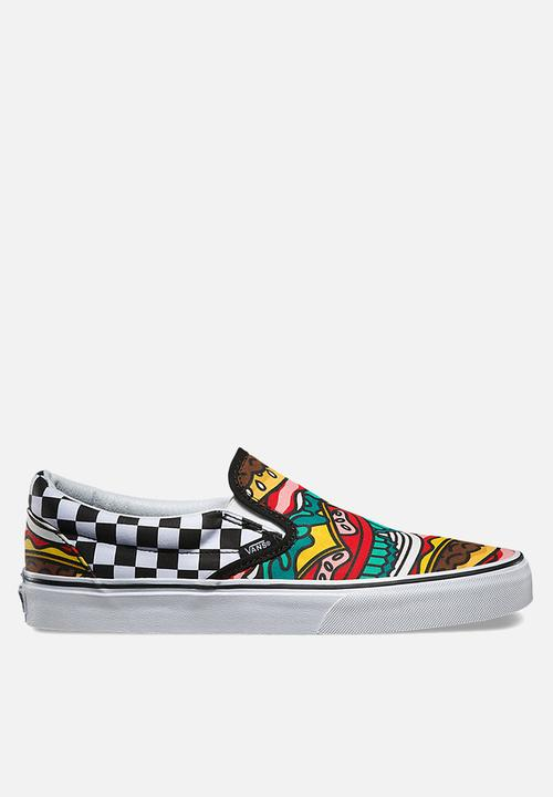 aef8297e017 Vans Classic Slip-On - Late Night - Burger   Check Vans Sneakers ...