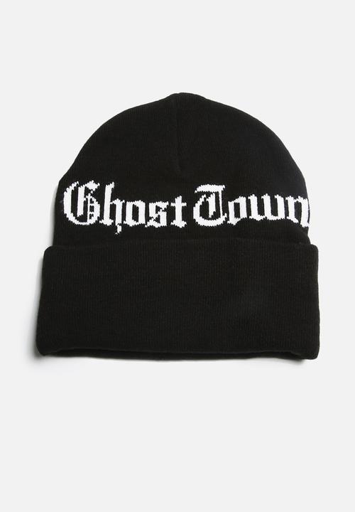 a655a34473d Ghost Town Beanie- Black Carhartt WIP Headwear