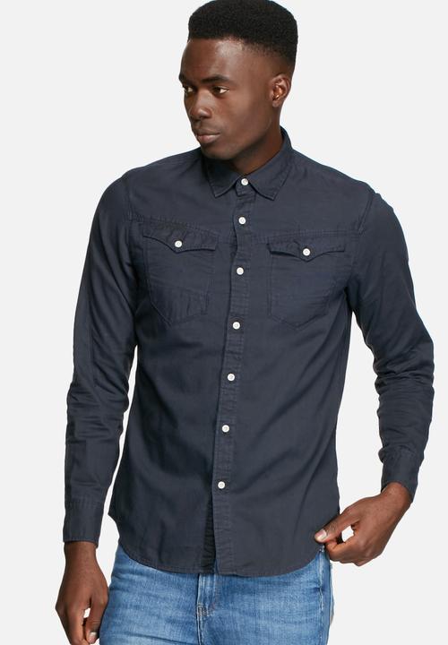 38d97651a3c166 Arc 3D Shirt -Imperial Blue/Mazarine Blue G-Star RAW Shirts ...