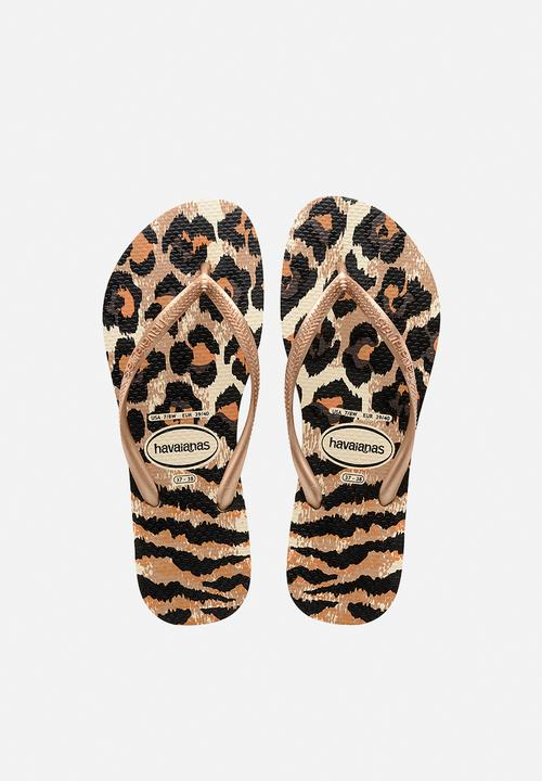 217e4d530ae0f0 SLIM ANIMALS - BEIGE  ROSE GOLD Havaianas Sandals   Flip Flops ...