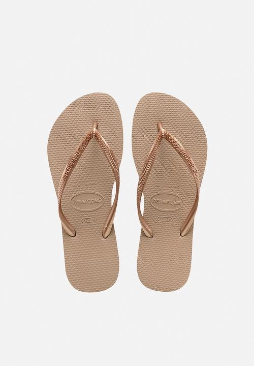 3e6c4416cc3375 Slim - rose gold Havaianas Sandals   Flip Flops