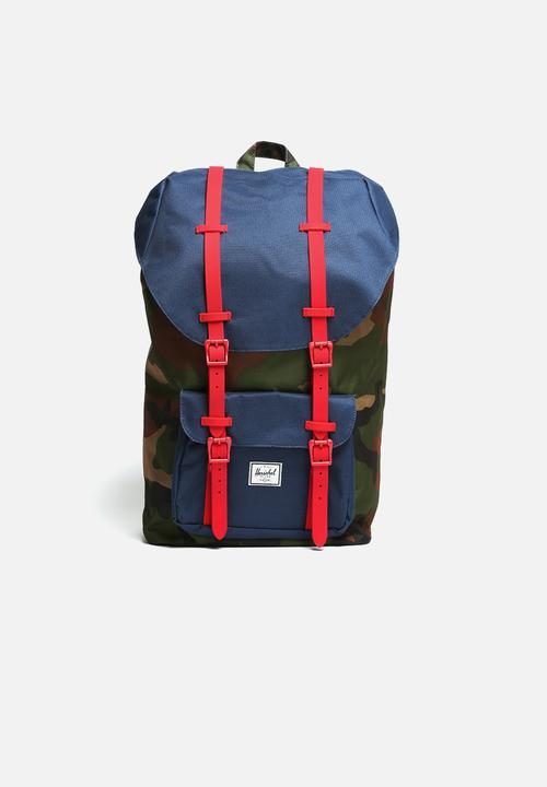 3788e5eed7b Little America - Woodland Camo Navy Red Herschel Supply Co. Bags ...
