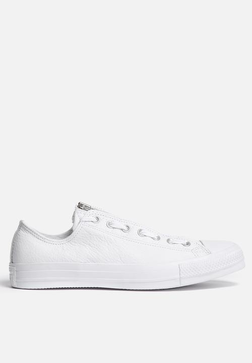 b01df8ae8ad Converse CTAS MA 1 Zip OX - Leather - White Converse Sneakers ...