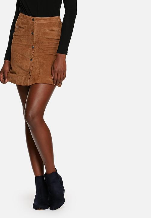 a80080d623 Geneva Suede Skirt - Cognac ONLY Skirts   Superbalist.com