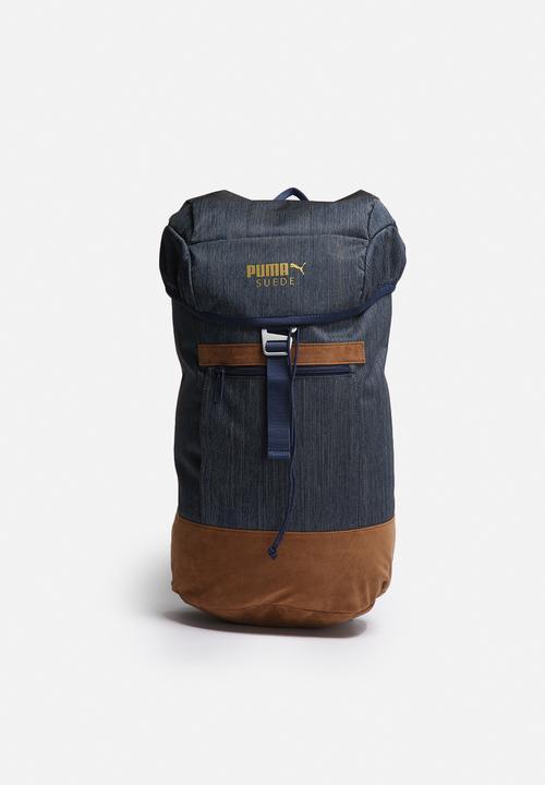 f88ba74c53 Suede Backpack - Indigo PUMA Bags   Wallets
