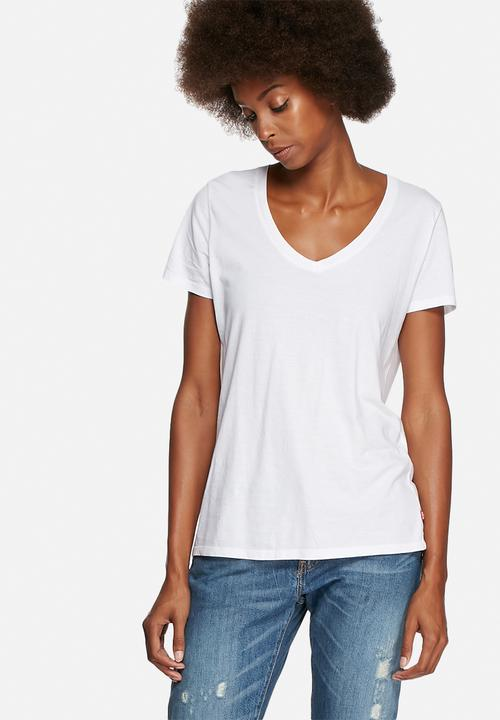 Perfect V-neck tee - white Levi s® T-Shirts af61ed8dc