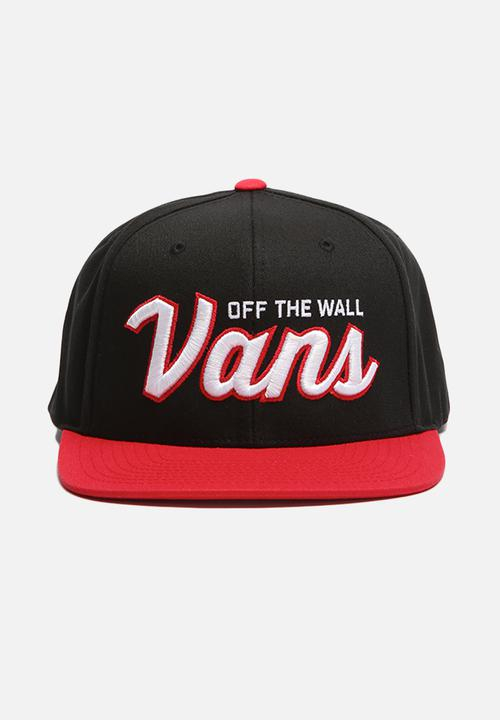 6578209f Wilmington snapback -black/red Vans Headwear | Superbalist.com