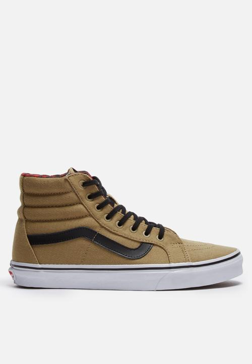 20c8951886 Sk8 HI reissue - twill gingham cornstalk black Vans Sneakers ...