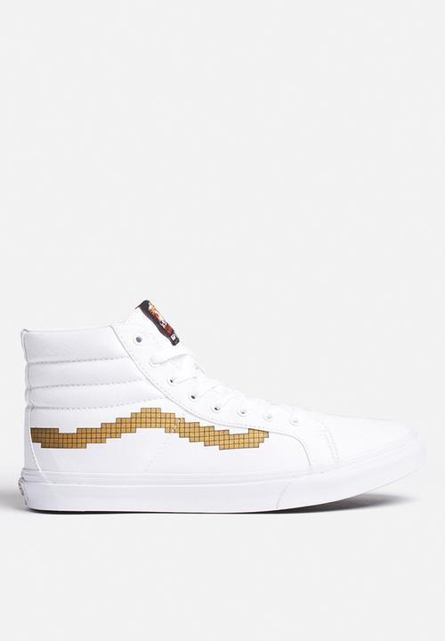 b8e2be3aab Vans x Nintendo SK8-HI Slim Console - Gold Vans Sneakers ...
