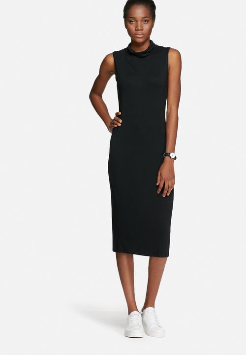 167a5982917 Polo neck midi dress - black dailyfriday Casual