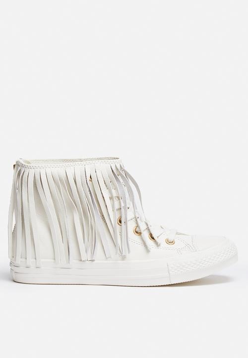 6bcde4d91ee2 CTAS fringe premium leather hi-white Converse Sneakers