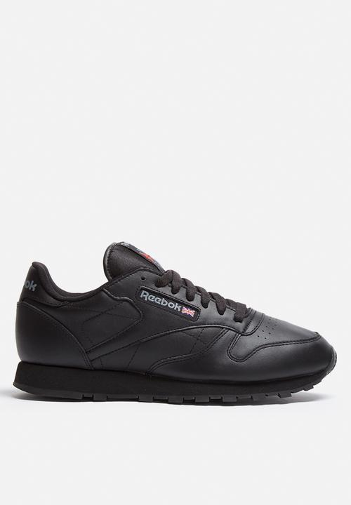Classic Leather Solids - 2267 - Black Reebok Classic Sneakers ... 61520c6bf