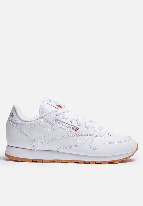 Gum 49799 Leather Classic Reebok White Sneakers TKJFl1c