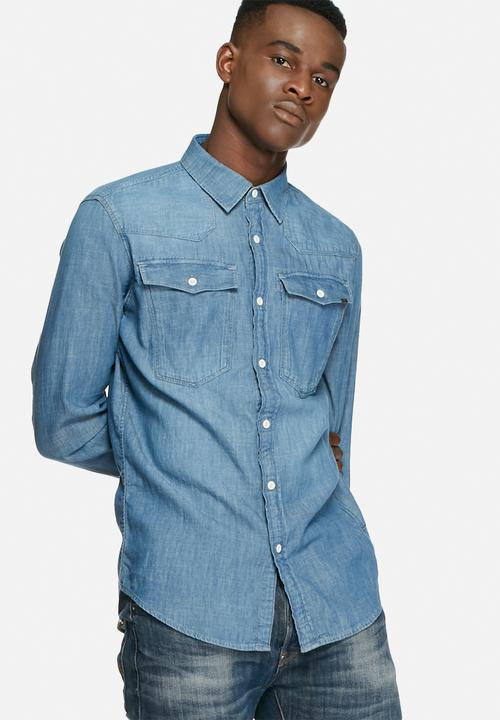 78ab54d107 3301 Shirt l s - light aged boll denim G-Star RAW Shirts ...