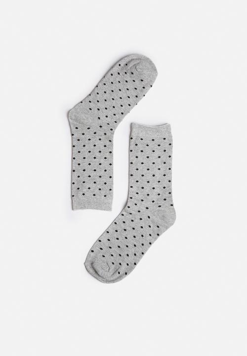 c228bda66 Glitter socks - light grey melange Vero Moda Stockings   Socks ...