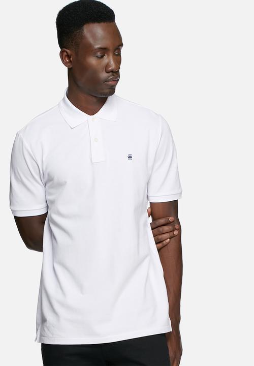 4ae016a5405 Dunda polo -white premium stretch G-Star RAW T-Shirts & Vests ...