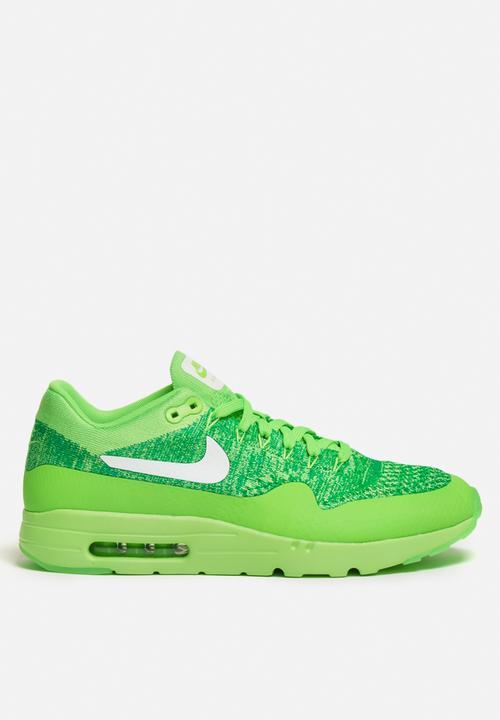 6e4a8c93e575 Nike AM1 Ultra Flyknit - 843384-301 - Volt Green   White   Lucid ...