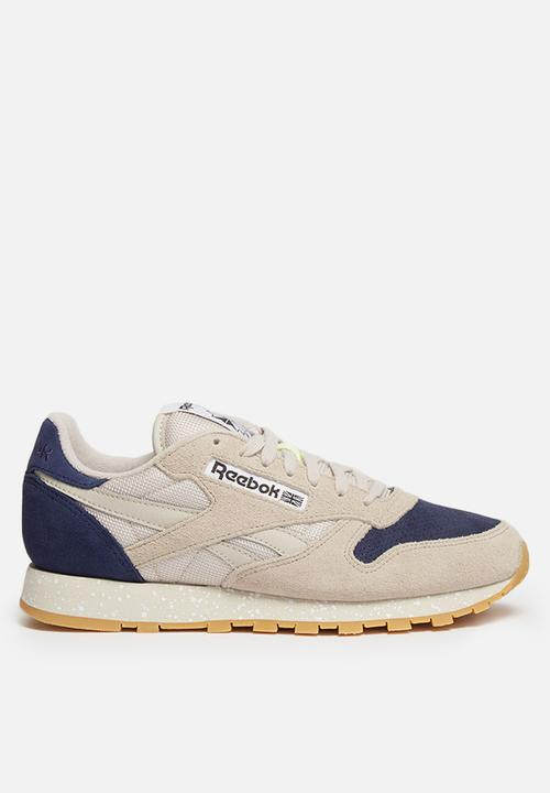 Classic leather - AQ9773 - sand stone   blue ink   white Reebok ... c05b39ab6