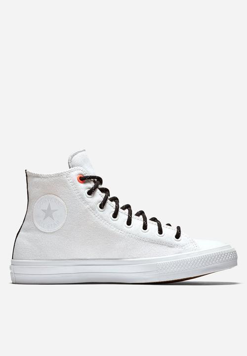 3425ccff8c9c Converse CTAS II HI Shield Canvas - White   Lava Converse Sneakers ...