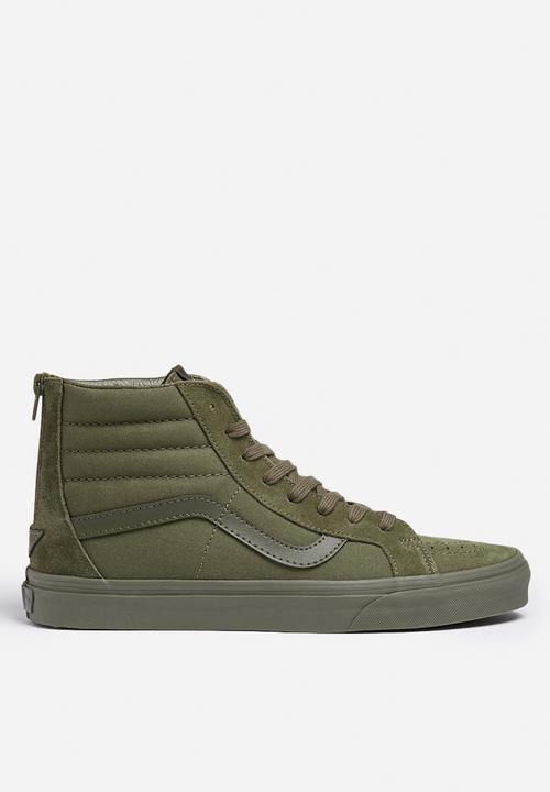 0884adee04 Vans SK8-Hi Reissue Zip - Mono Ivy Green Vans Sneakers